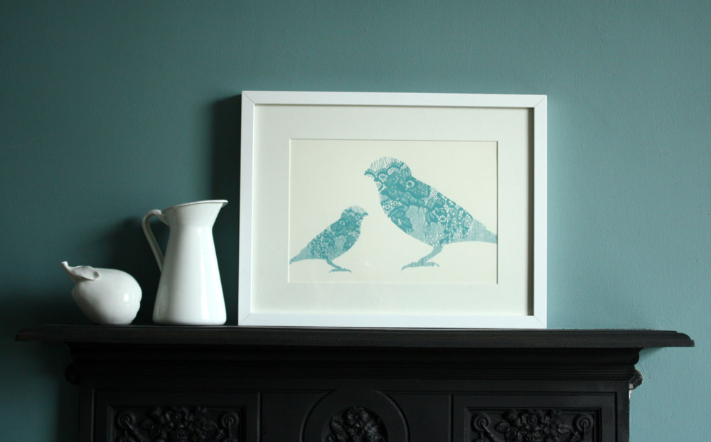 Annie & Amelia Lace Bird Print (2012 collection)