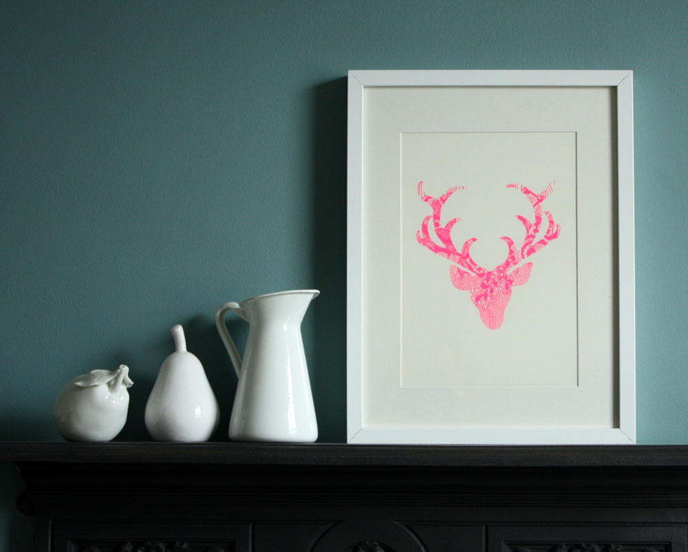 Annie & Amelia Neon Stag Print (2012 Collection)